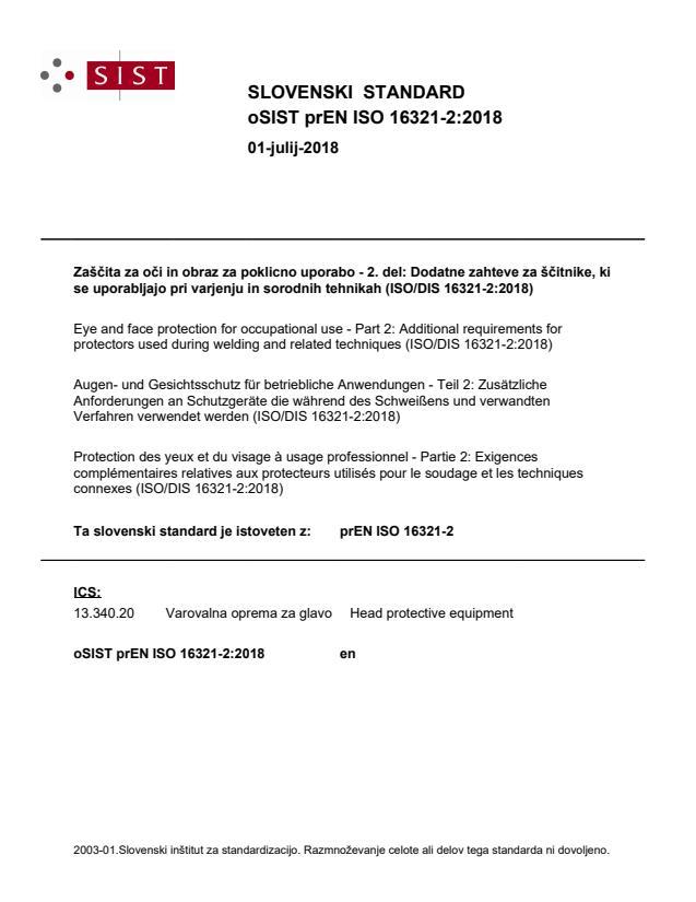 oSIST prEN ISO 16321-2:2018