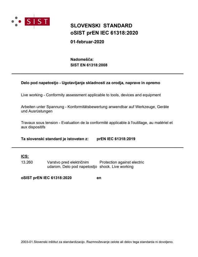 oSIST prEN IEC 61318:2020