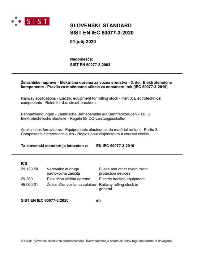 SIST EN IEC 60077-3:2020