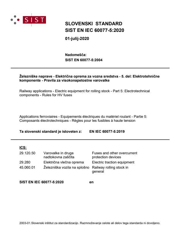 SIST EN IEC 60077-5:2020