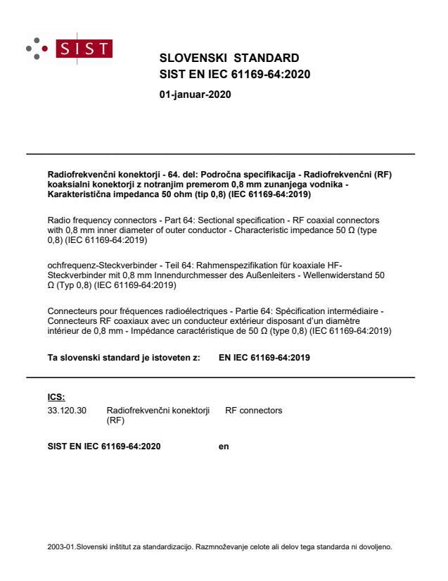 EN IEC 61169-64:2019