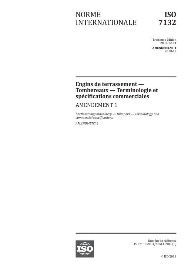 ISO 7132:2003/Amd 1:2018