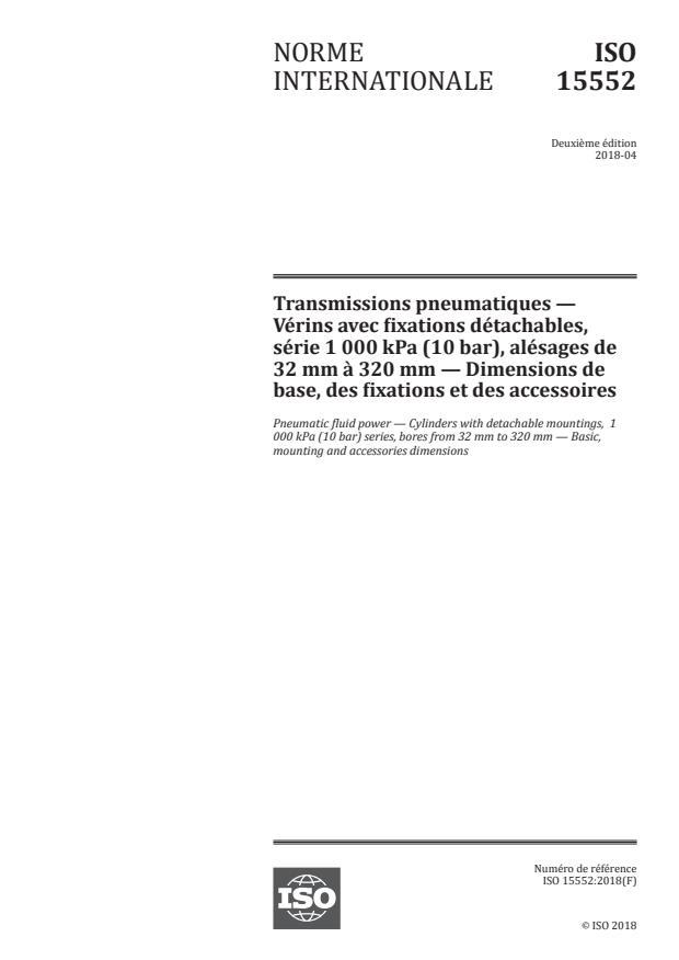 SIST ISO 15552:2021