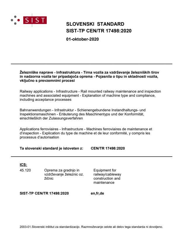 SIST-TP CEN/TR 17498:2020