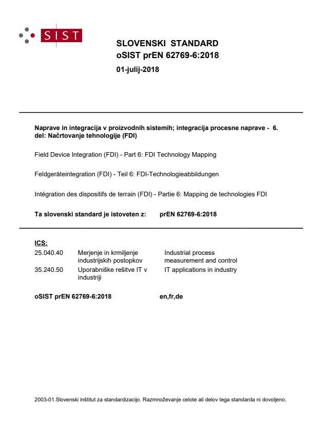 oSIST prEN 62769-6:2018 - BARVE na PDF-str 22