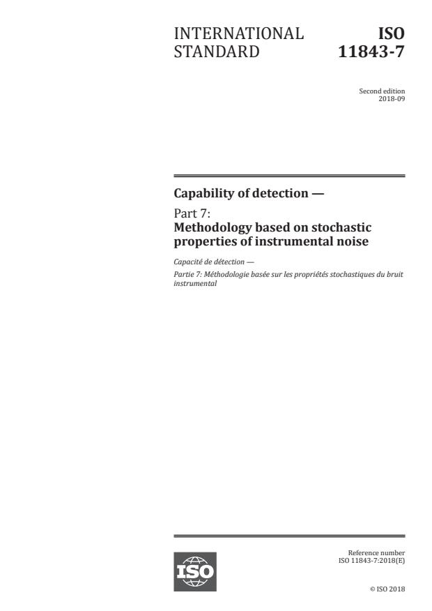 ISO 11843-7:2018 - Capability of detection