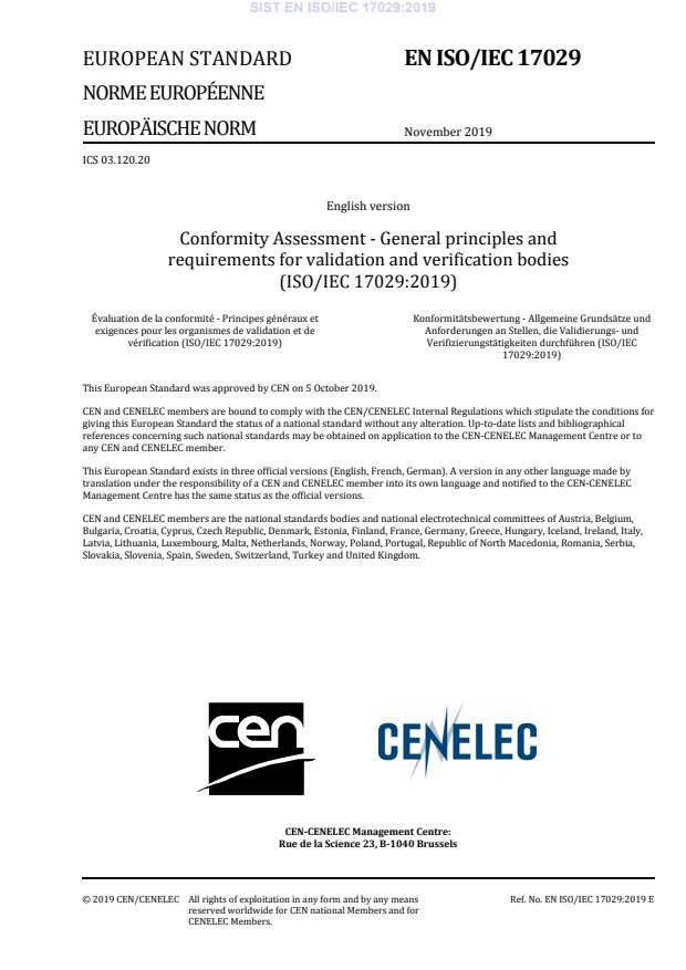 EN ISO/IEC 17029:2019