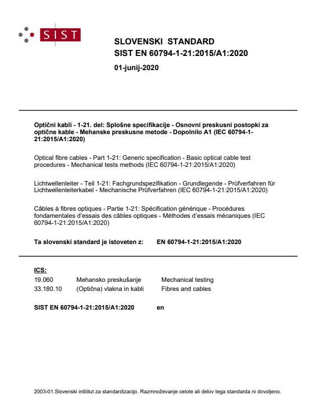 EN 60794-1-21:2015/A1:2020 - BARVE na PDF-str 15,17,18,19,20,22