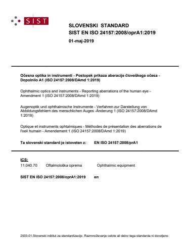 SIST EN ISO 24157:2008/oprA1:2019