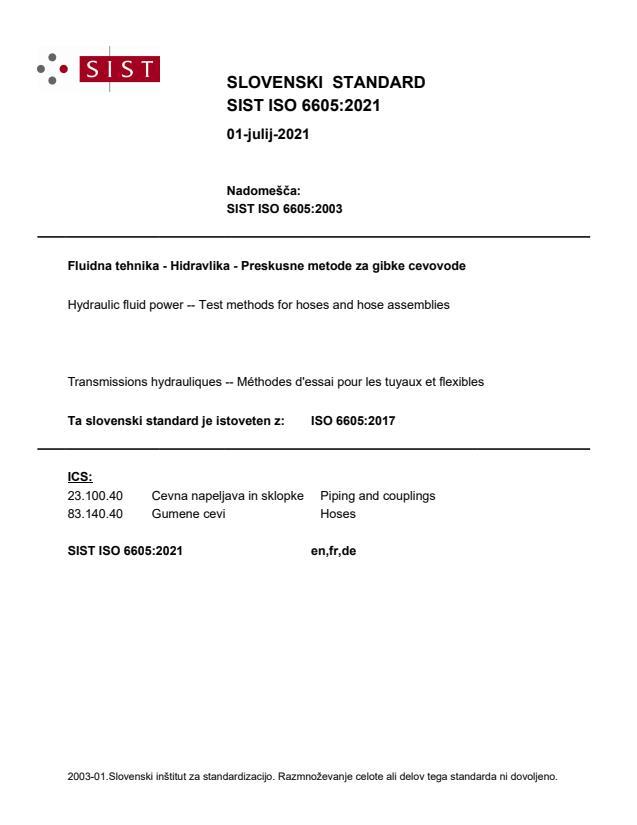 SIST ISO 6605:2021