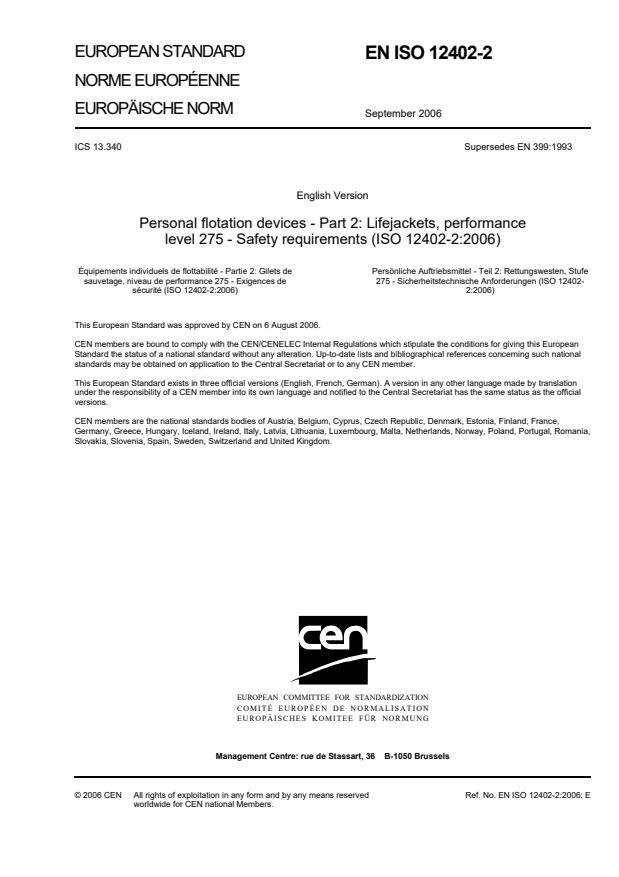 SIST EN ISO 12402-2:2006