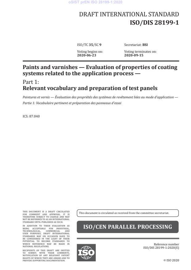 oSIST prEN ISO 28199-1:2020 - BARVE na PDF-str 13,14