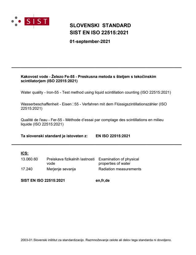 SIST EN ISO 22515:2021