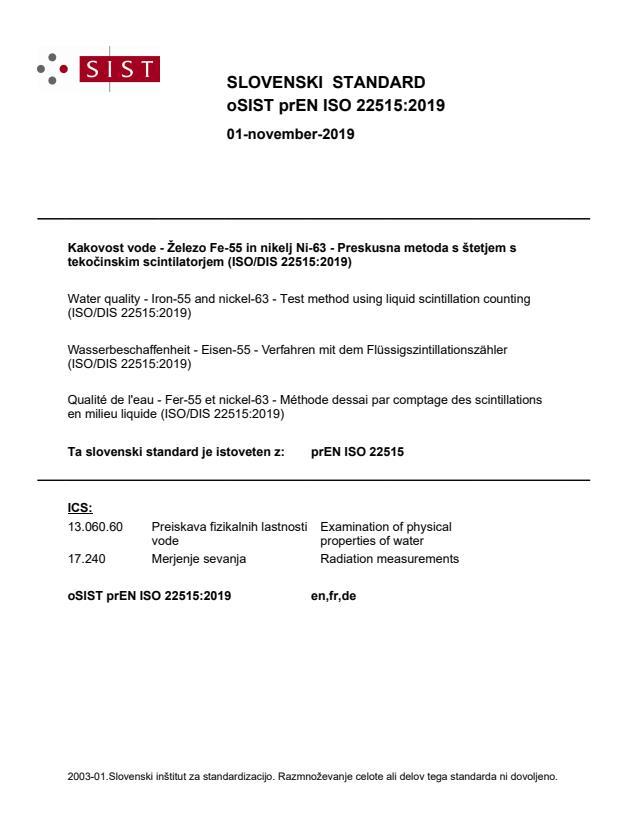 oSIST prEN ISO 22515:2019 - BARVE na PDF-str 28