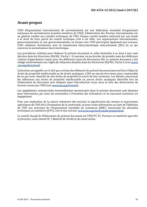 ISO 4254-12:2012/Amd 1:2017