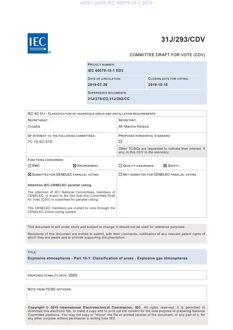 SIST EN IEC 60079-10-1:2021