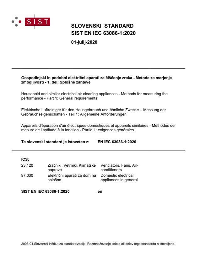 SIST EN IEC 63086-1:2020