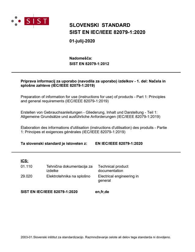 EN IEC/IEEE 82079-1:2020
