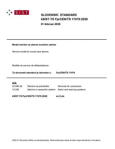SIST-TS CEN/TS 17470:2020