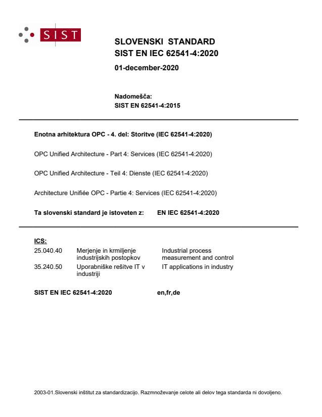 SIST EN IEC 62541-4:2020