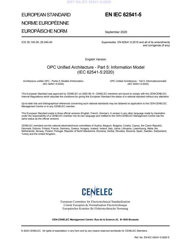 SIST EN IEC 62541-5:2020 - BARVE