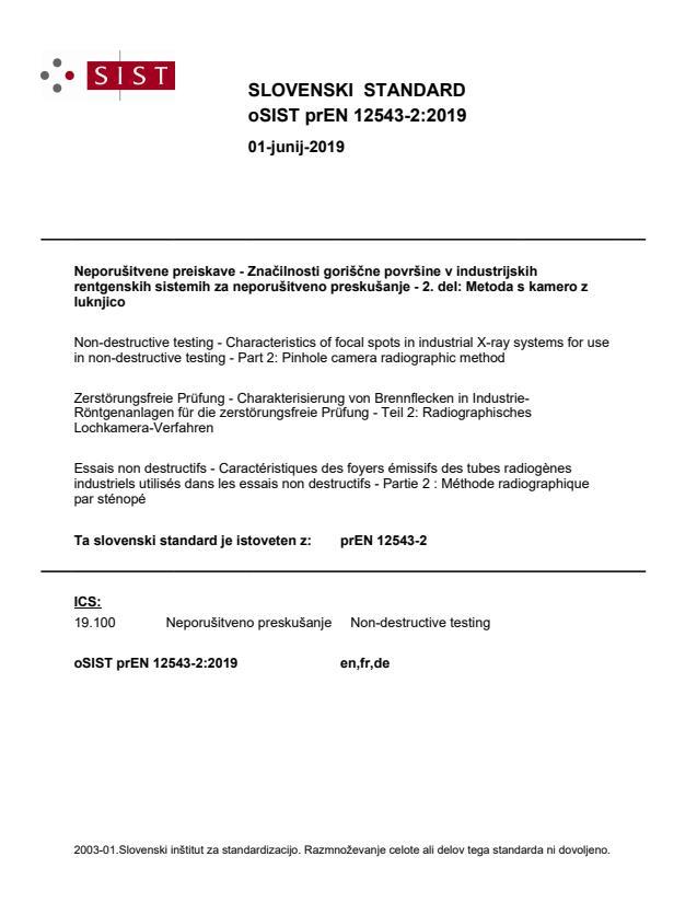 oSIST prEN 12543-2:2019 - BARVE na PDF-str 15,16