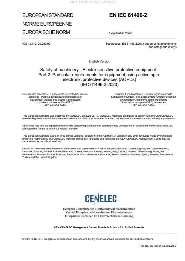 SIST EN IEC 61496-2:2020 - BARVE na PDF-str 25,29,31,33,34,35,36,37,43,44,45