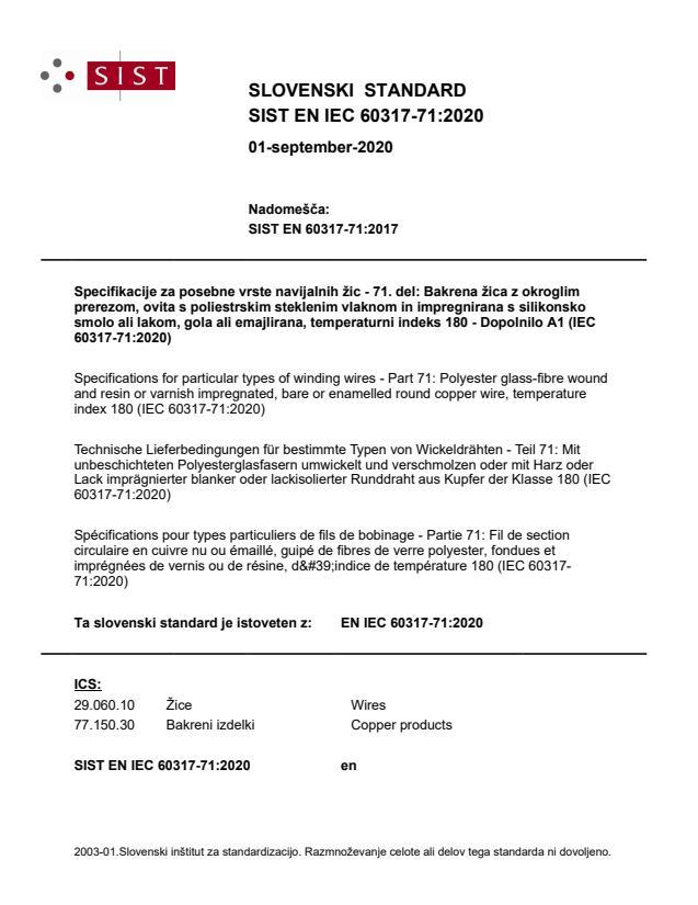 SIST EN IEC 60317-71:2020