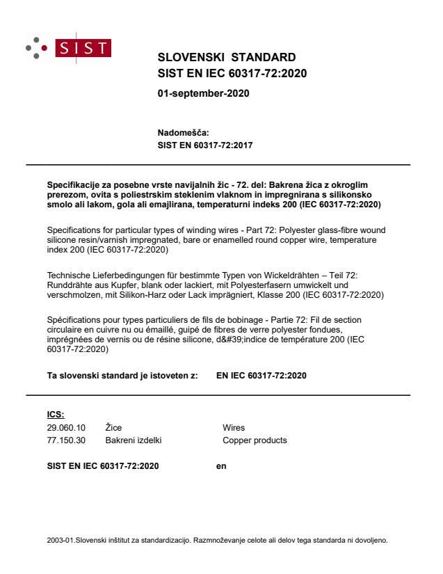SIST EN IEC 60317-72:2020