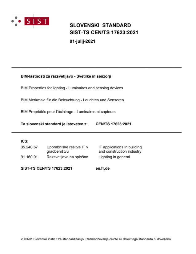 SIST-TS CEN/TS 17623:2021