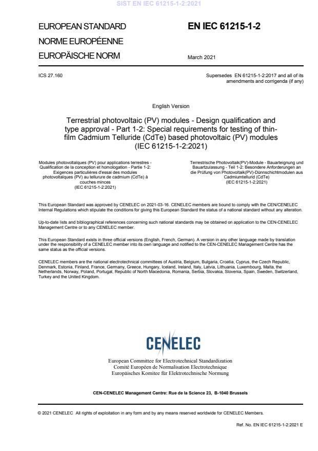 SIST EN IEC 61215-1-2:2021