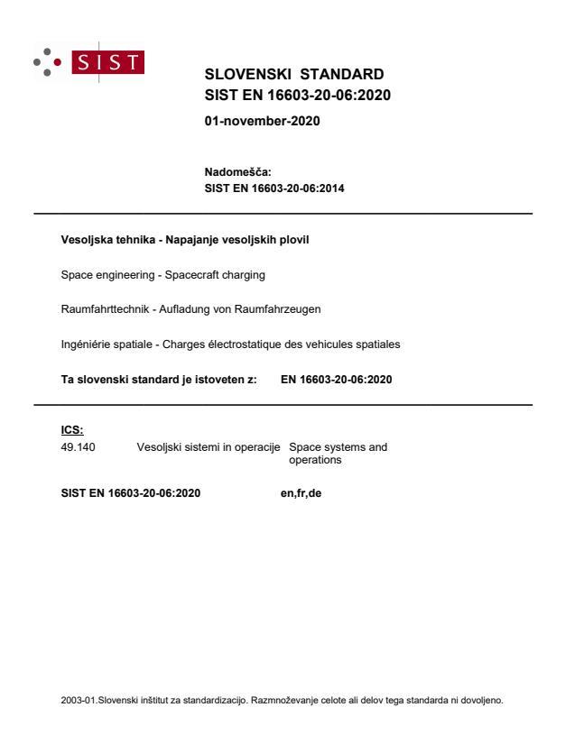 SIST EN 16603-20-06:2020 - BARVE