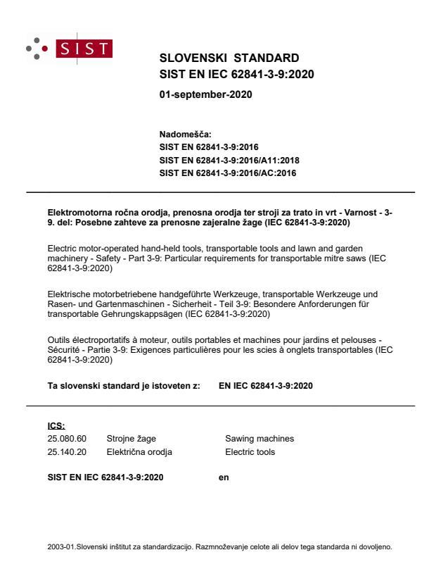 SIST EN IEC 62841-3-9:2020