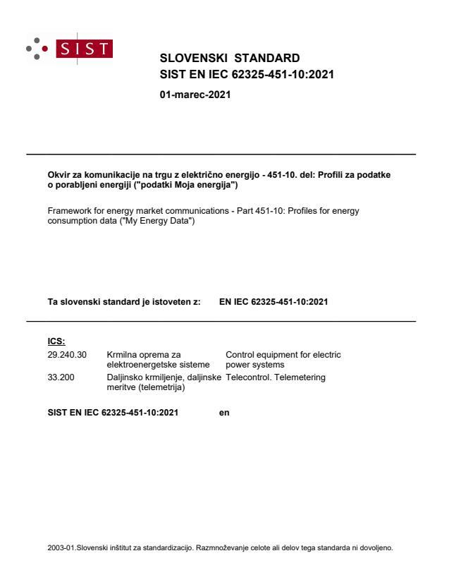 """SIST EN IEC 62325-451-10:2021 - POZOR ! k standardu IEC spada tudi datoteka """"Code component IEC 62325_451_10"""". BARVE v IES standardu"""