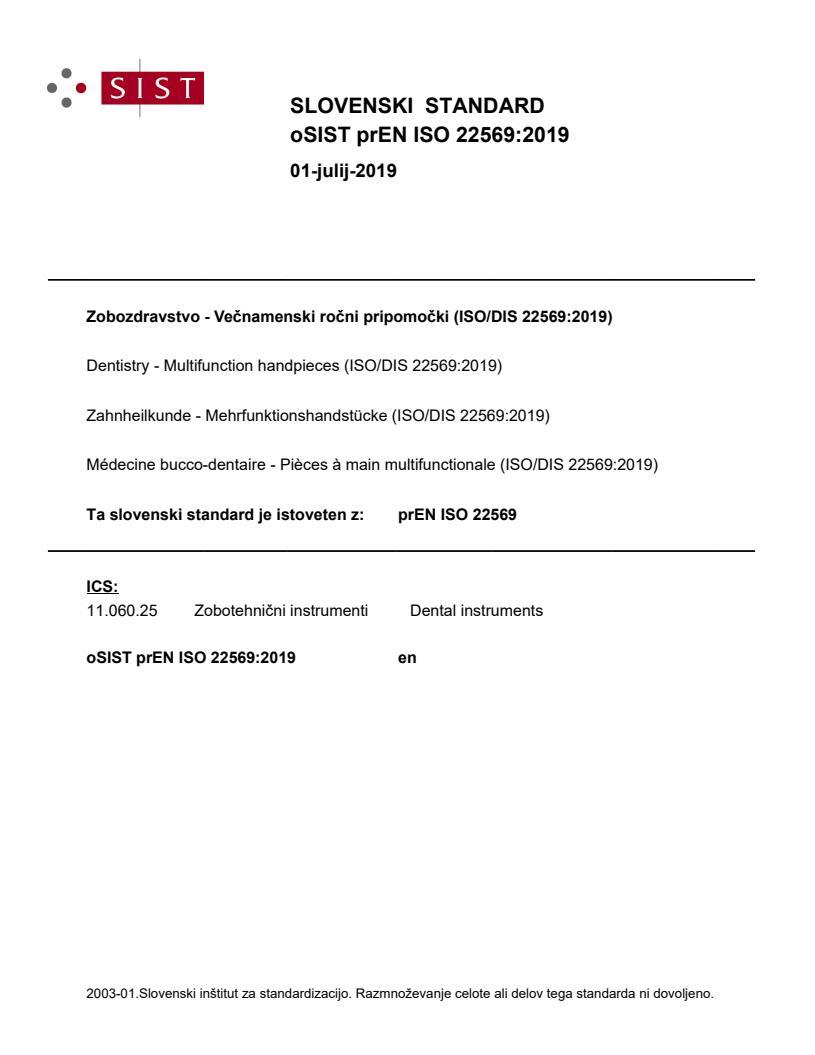 SIST EN ISO 22569:2020