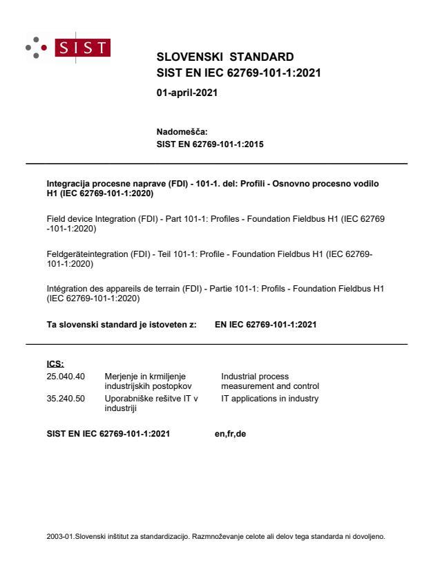 SIST EN IEC 62769-101-1:2021