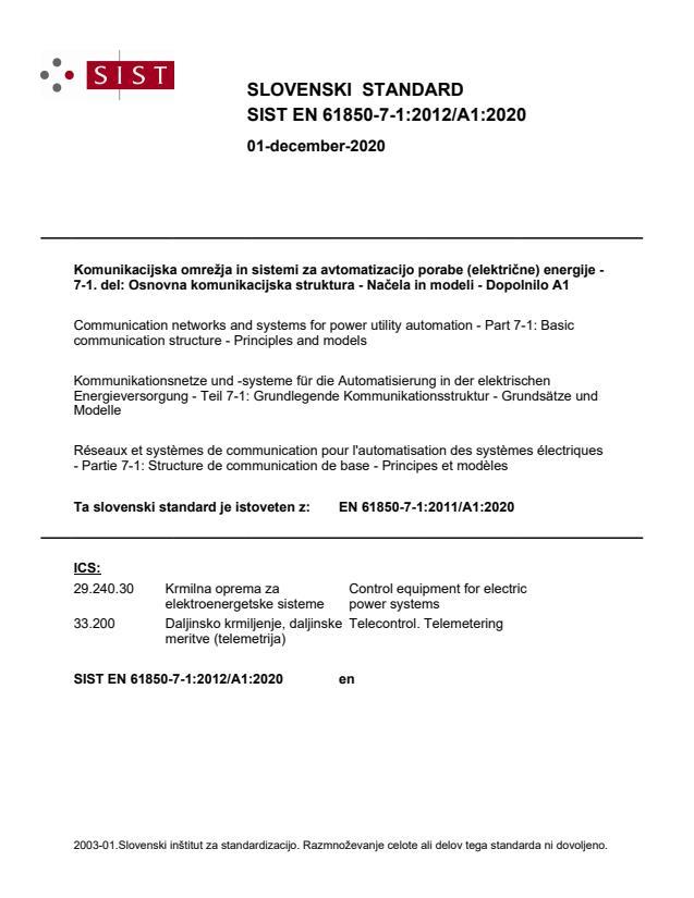 SIST EN 61850-7-1:2012/A1:2020 - BARVE