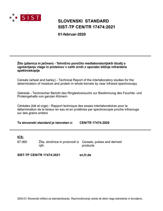 SIST-TP CEN/TR 17474:2021