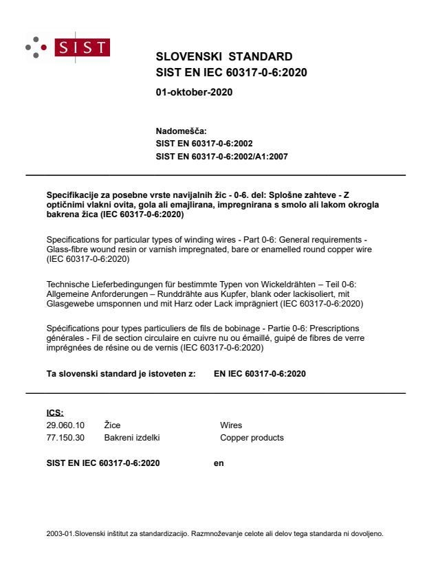 SIST EN IEC 60317-0-6:2020