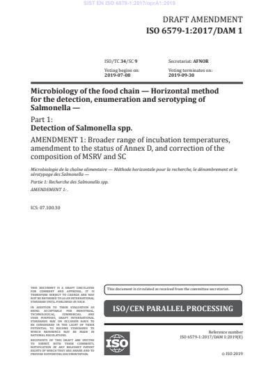 EN ISO 6579-1:2017/A1:2020