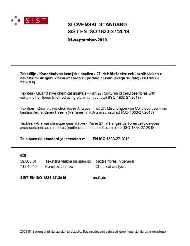 EN ISO 1833-27:2019
