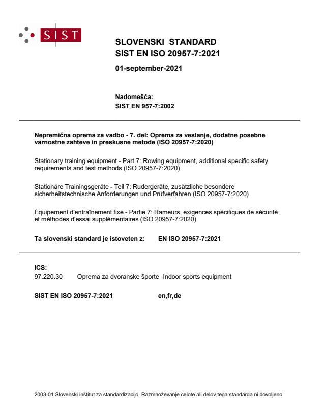 SIST EN ISO 20957-7:2021