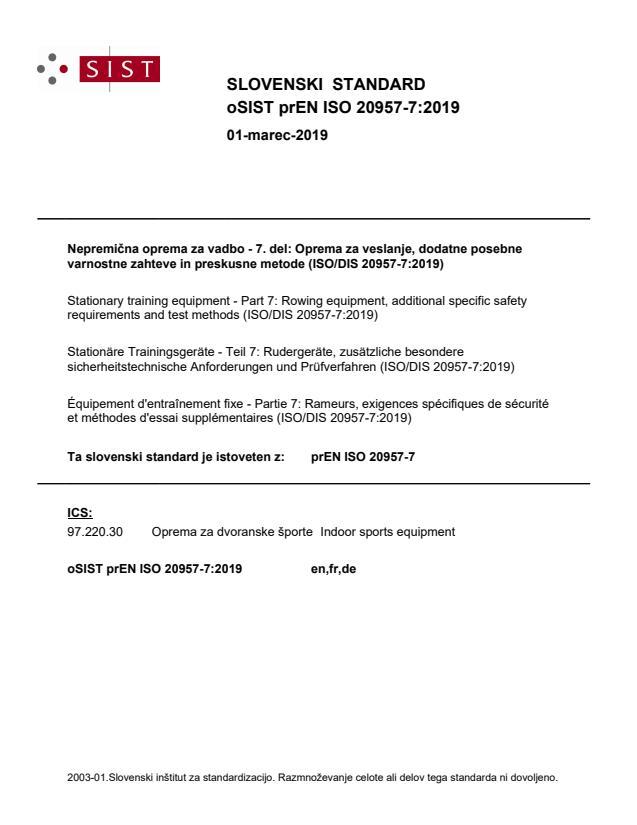 oSIST prEN ISO 20957-7:2019