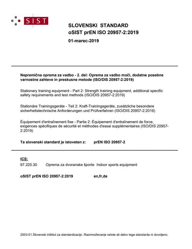 prEN ISO 20957-2:2019