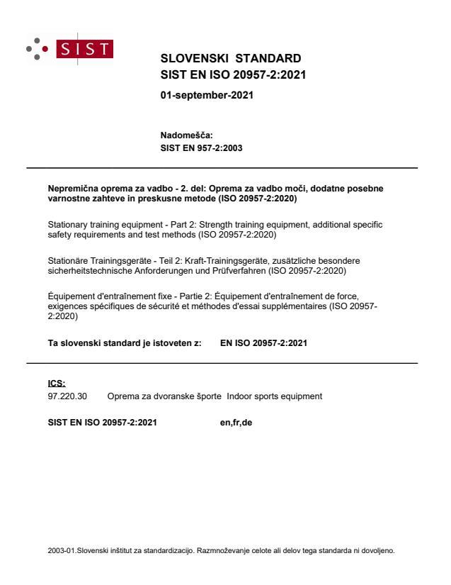 EN ISO 20957-2:2021