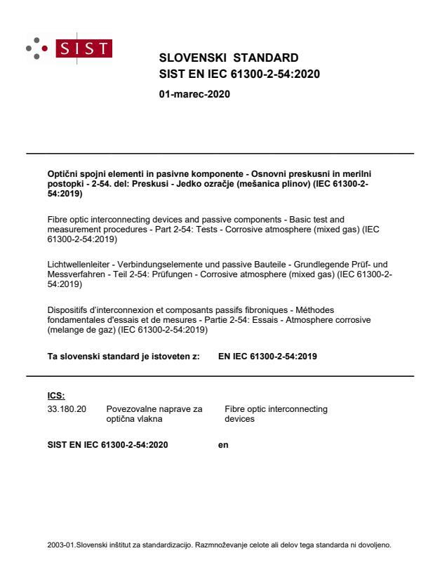 EN IEC 61300-2-54:2020