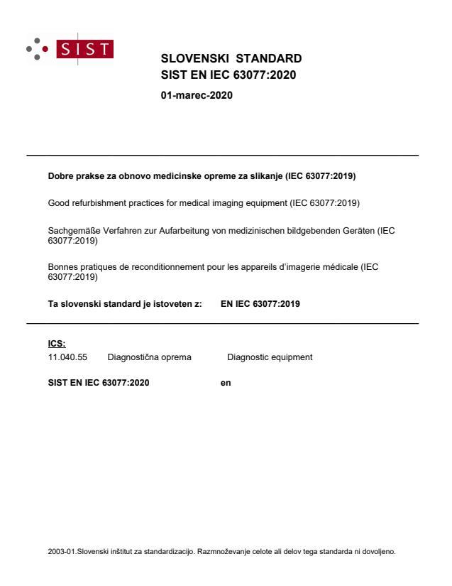 SIST EN IEC 63077:2020