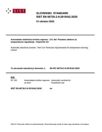 SIST EN IEC 60730-2-9:2019/A2:2020