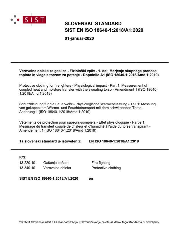SIST EN ISO 18640-1:2018/A1:2020