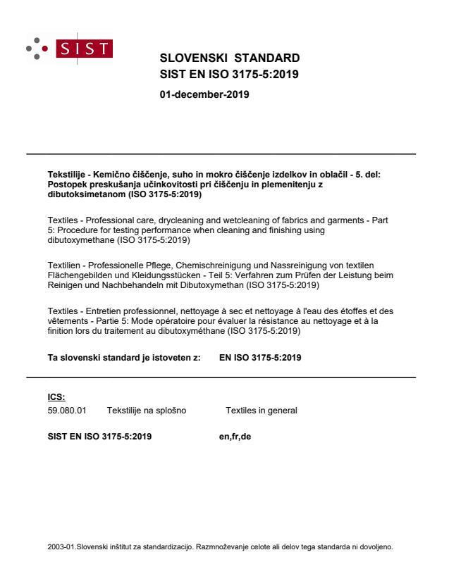 EN ISO 3175-5:2019